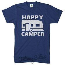 Happy Camper Funny Tshirt Campervan Van V Caravan T Shirt Mens Festival Womens