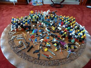 Lego Minifigures X100 + Guns Swords Star Wars Marvel Space Batman Superhero