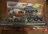 Disney Pixar Cars 2 Brent Mustangburger & Darrell Cartrip Exclusive Vehicle Rare