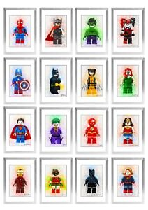 Lego Avengers DC Characters Children Bedroom Poster Birthday Gift Print Only