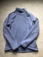 Athleta Girl Size M (8-10) Sweatshirt Top Blue Fleece Inside
