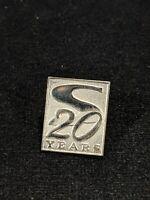 Vintage Silver Tone 20 Year Service Pin 11017