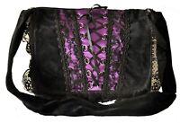 Gothic Renaissance Unisex Punk Vintage Purple Vamp Shoulder Retro Hand Bag