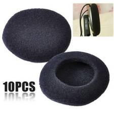 10 x 50mm Foam Pads Ear Pad Sponge Earpads Headphone Cover Black For Headset