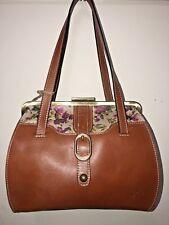 Patricia Nash Antique Rose Leather Leame Frame Satchel Shoulder Purse NWT