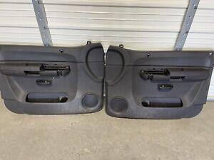 2007-2013 Chevy Silverado GMC SIERRA Black FRONT DOOR PANELs Left Right