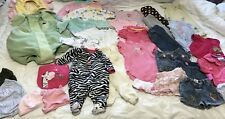 Baby Girls Clothing Size 0-12 Months Lot of 31 Items Flower Halloween Costume