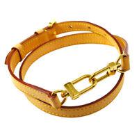 LOUIS VUITTON Logos Shoulder Strap Brown Leather  Handbag Accessories AK45215