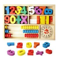Wooden Multi functional Math Box Toys Set Children Mathematical Education Toys