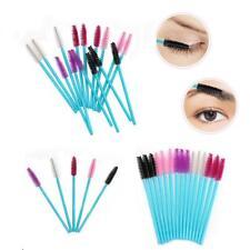 50Pcs Disposable Nylon Mascara Wands Blue Handle Brushes Lashes  Brushes Tools