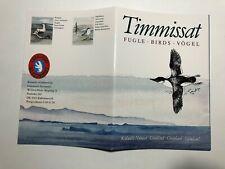 Folder Libretto Booklet Greenland Birds Fugle Vogel Uccelli Groenlandia