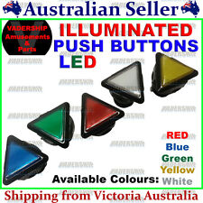 New: Triangle LED - ILLUMINATED Buttons, Lock nut & Micro Switch - Arcade / Mame