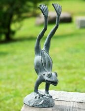 Acrobatic Yoga Frog Handstand Pose Metal Garden Pool Pond Sculpture Statue