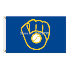 New listing Milwaukee Brewers Flag 3x5ft Banner Polyester Baseball World Series brewers010