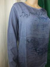 Gina Laura Shirt Größe L mittelblau 1947