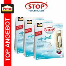 3 x 2er Pack Pattex Luftentfeuchter Raum Feuchtigkeit Minifresh 50g Auto Schrank