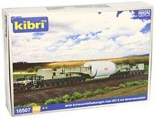 Kibri 16507 H0 man Schienentiefladewagen Uaai 687.9 mit Generator Stator