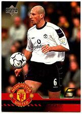 Jaap Stam Manchester United #36 Upper Deck 2001 Football Trade Card (C361)