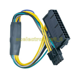 ATX 24pin to 8pin Power Supply Cable for DELL Optiplex 3020 7020 9020 T1700 NEW