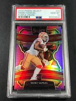 DEEBO SAMUEL 2019 PANINI SELECT #29 PURPLE PRIZM ROOKIE RC /75 PSA 10