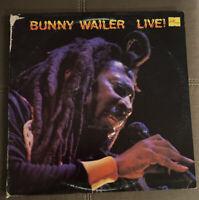 Bunny Wailer - Live ! (Reggae Vinyl LP VG+ 1983) Free Shipping