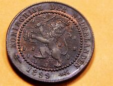 Netherlands 1899 1 Cent UNCIRCULATED Nice Coin!