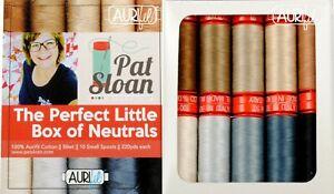 Aurifil Thread 50 wt Cotton 10 small spools The Perfect Little Box of Neutrals