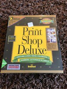Print Shop Deluxe Companion 1994 10th Anniversary Brøderbund Desktop Publishing