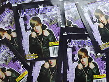 JUSTIN BIEBER 3 UNOPENED STICKER PACKS PANINI FROM JUSTIN TO YOU