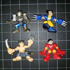 Superhero Squad SHS Lot 4 Ninja Wolverine Tony Stark Iron Man War Machine Rough