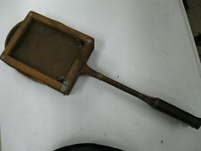 Vintage Antique Wood Badminton Racket with Antique Frame Press