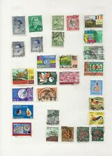 CEYLON Stamps on 3 Old Stamp Album Pages including Sri Lanka