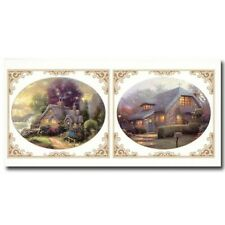 Cobblestone Cottages Large Instant Stencils by Thomas Kinkade