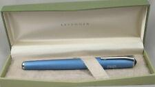 Levenger True Writer Illuminator Brushed Blue Fountain Pen In Box Fine Nib