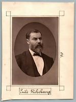 Emile Richebourg, écrivain et feuilletoniste  Vintage print. Emile Richebourg