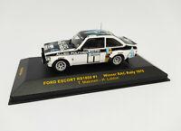 IXO 1:43 - RAC034 Ford Escort RS1800 #1 Winner RAC Rally 1975 Makinen Liddon