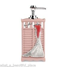Diva Hollywood Glam Girl's Bathroom Pink Lotion Pump Soap Dispenser Dress Fur