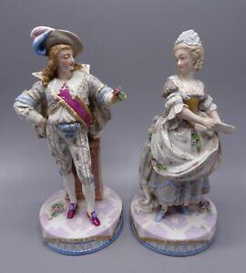 Beautiful Pair 19th Century 27 cm French Paris Porcelain Figures