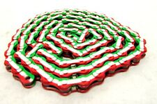 KMC Z510H 1/2 x 1/8 Single Speed/BMX Bicycle Chain Red/White/Green Mexico Italy