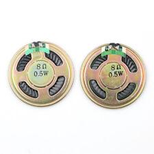 2pcs New 40mm 8ohm 8Ω 0.5W Audio Speaker Stereo Woofer LoudspeakerTrumpetHor Bt