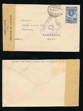 GOLD COAST WW2 to SWITZERLAND BONISWIL CENSOR 6 from SWEDRU 3d FRANKING