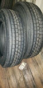 2 New Goodyear G647 RSS 225/70R19.5 Load G 14 Ply All Position Commercial Tires