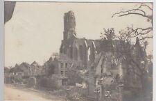 (113108) Foto AK Zonnebeke, zerstörte Kirche m. Tor 1915