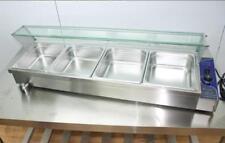 46×14×10 4-Pan Buffet Bain-Marie Food Warmer 1500W 110V Steam Table Kitchen