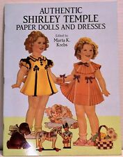 VINTAGE 1991 AUTHENTIC SHIRLEY TEMPLE PAPER DOLLS AND DRESSES MARTA KERNS NEW
