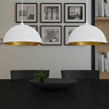 vidaXL 2x Hanglamp Halfrond Metaal Wit Plafond Lamp Verlichting Hang Licht