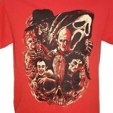 Wes Craven Horror Movie Villains T Shirt Horror Block Monsters Red Size Small