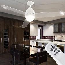 Ventilateur De Plafond Bouche d'aération avec éclairage Télécommande Métal