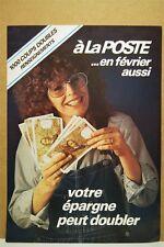AFFICHE PUBLICITE 32x23 cm LA POSTE BILLETS 100 F CORNEILLE vintage 1970