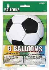 BIRTHDAY PARTY BALLOONS HELIUM / AIR LATEX 8 FOOTBALL SOCCER unq 27315